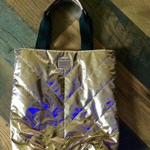 Nylon rose Gold Victoria's Secret Bag